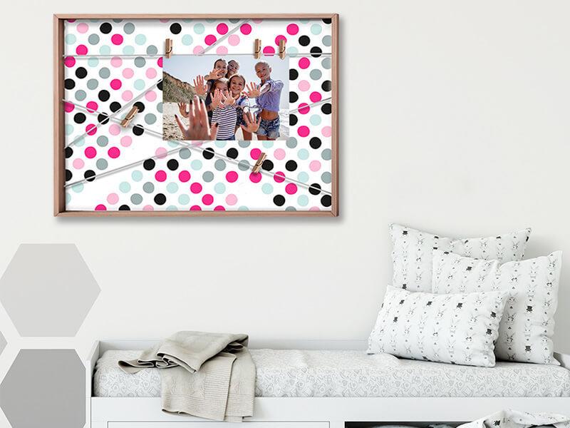 Photo Holder Wall Art Decoration Memo Board Combo Art Functiona Wall Art