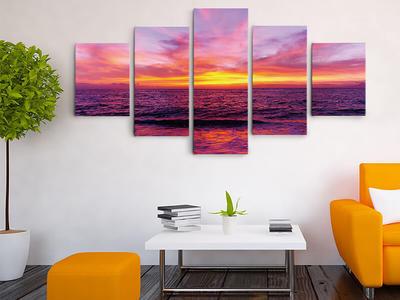 Beautiful Sunrise Canvas Art Set For Wall Decoration