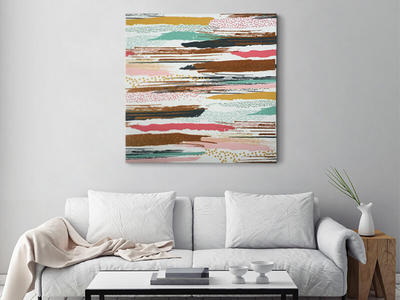 Dash Water Color Glitter Canvas Art For Wall Art Decor Canvas Art With Glitter Customized Wall Art AbstractCanvasWallArt