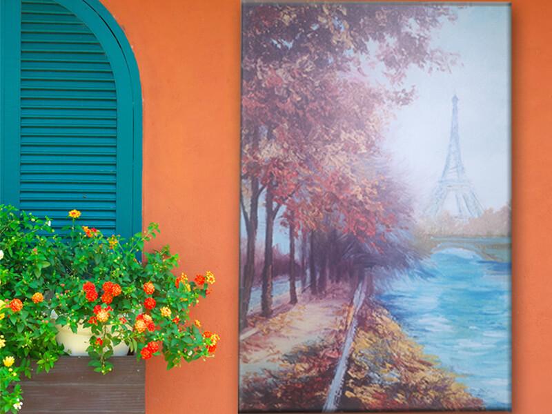 creative navy blue wall art supplier for bathroom-1