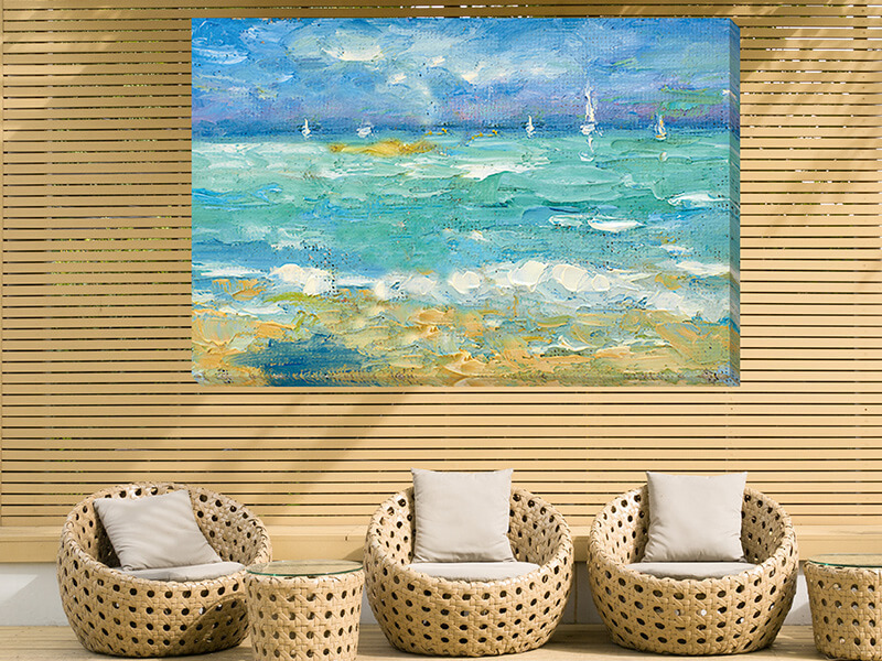Outdoor Canvas Art  waterproof canvas  Outdoor art  for all weather perfect for decorating patios, courtyards, sun rooms, gardens, exterior walls, verandas, fences and other outdoor places