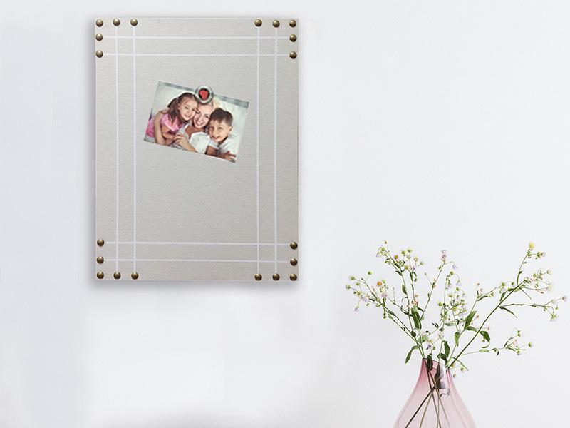Linen Nailhead Pin Board Memo board