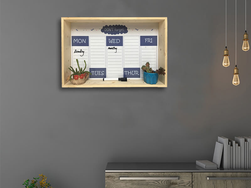 Framed Erasable Magnetic Shelf