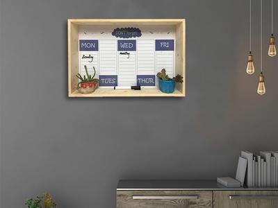 Framed Erasable Magnetic Shelf