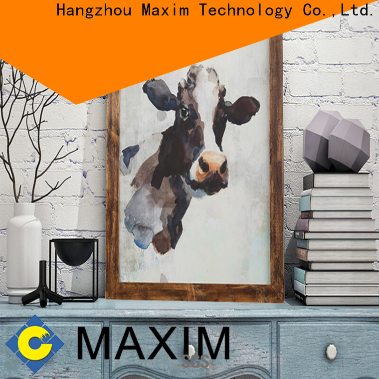 Maxim Wall Art quality black and white framed art supplier for restroom