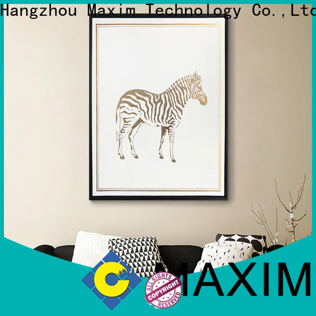 Maxim Wall Art black and white canvas art directly sale for restroom