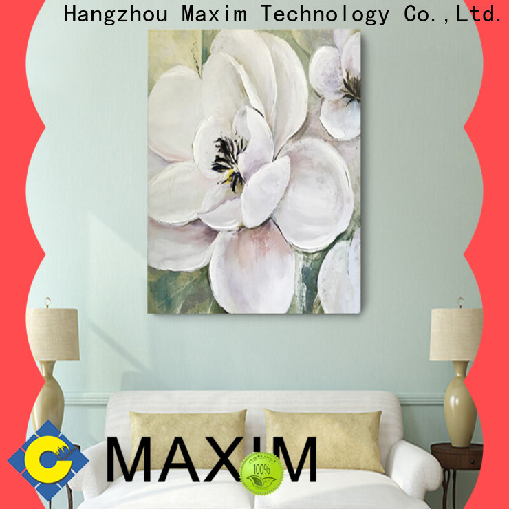 Maxim Wall Art long lasting gallery wrapped canvas supplier for bathroom