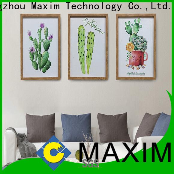 Maxim Wall Art hot selling black framed wall art supplier for home office