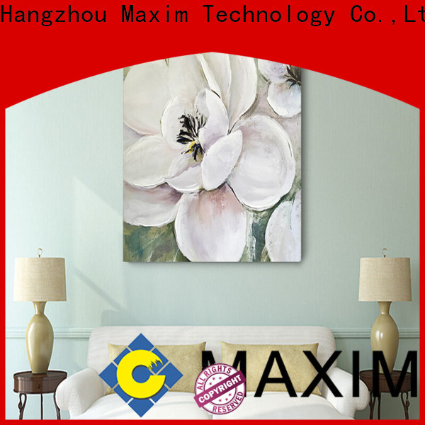 Maxim Wall Art elegant black and white canvas art personalized for living room
