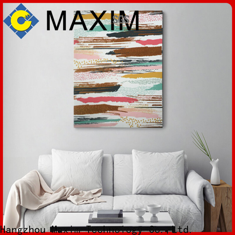 Maxim Wall Art long lasting gallery wrapped canvas supplier for bedroom