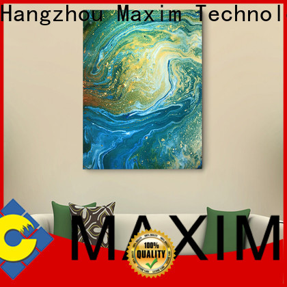 Maxim Wall Art creative gallery wrapped canvas factory price for living room