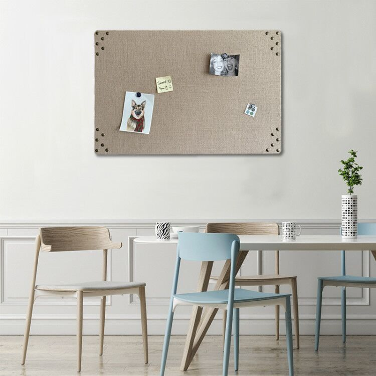 Nature Burlap Jute Nailhead Pin Board Memo Board
