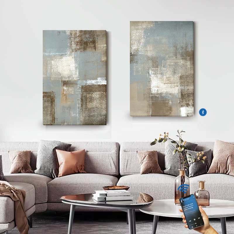 New Music Bluetooth Sonic Canvas Painting Speaker & Painting Hang On The Wall, Combining Art & Audio Into An Audio-Visual Delight For The Senses Great For Both Decoration And Loud Speaker