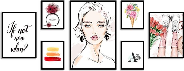 Framed Art set of 7 MDF frame art indoor wall decor
