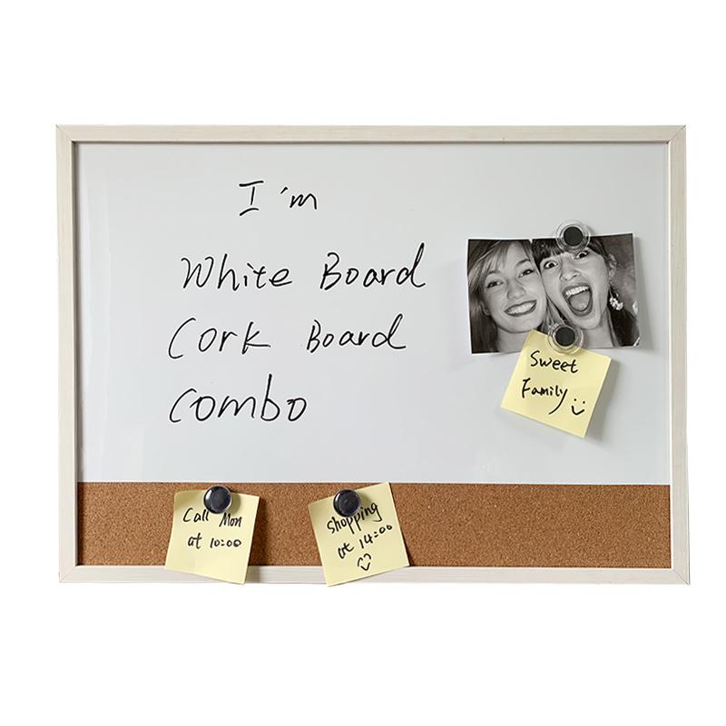 White Board cork board combo Memo Board Bulletin Board