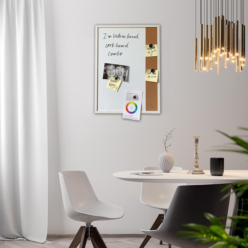 White Board cork board combo photo board Memo Board Bulletin Board
