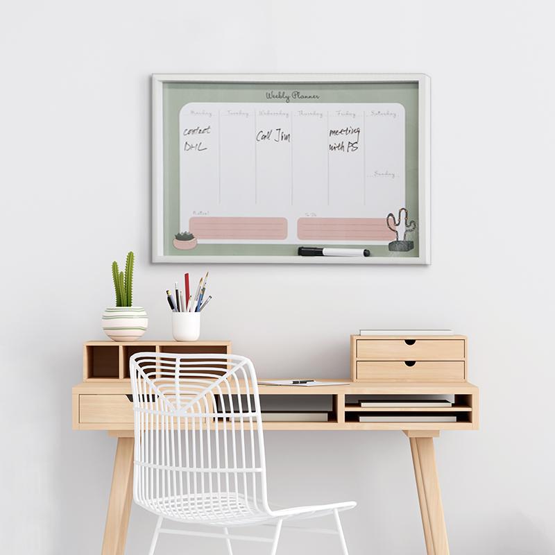 Erasable canvas board Magnetic board write board bulletin board monthly planer board